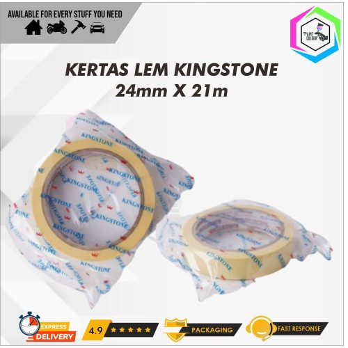 Foto Produk Masking Tape | Lakban Kertas | Kertas Lem Kingstone (24mm x 21mm) dari PAINT COLOUR