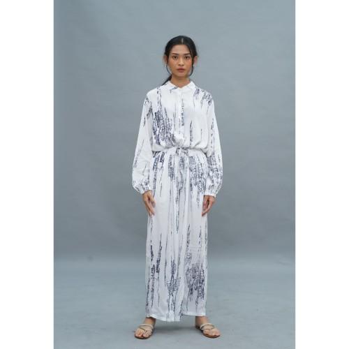 Foto Produk NONA Tie Dye Set Long Sleeve White Grey dari nona_ind