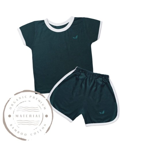 Foto Produk Short at home Tees Set Emerald - 7-8 tahun dari Echu Kids