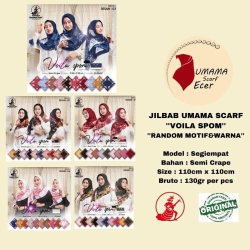 Foto Produk Kerudung VOILA SPOM LC 14.800 RANDOM Motif Warna Hijab Jilbab Termurah dari Istanajilbabumama