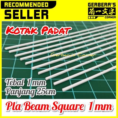 Foto Produk Plastic Beam Square 1mm Pla Beam Plastic Plate Custom Model Kit dari Gerbera's Corner