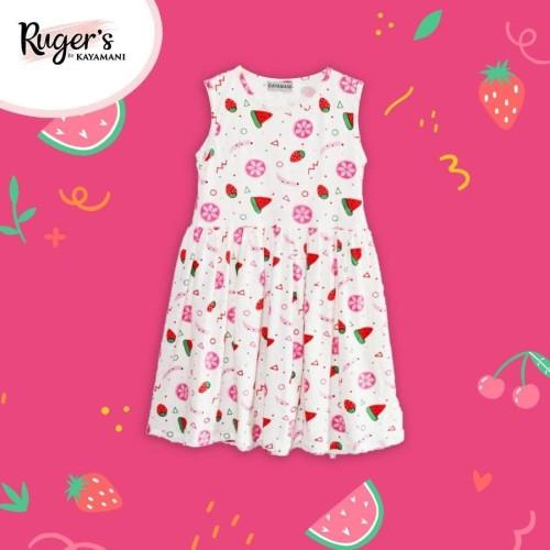 Foto Produk Rugers By Kayamani - Kids Dress - White Fruit - 9 dari rugers_bykayamani