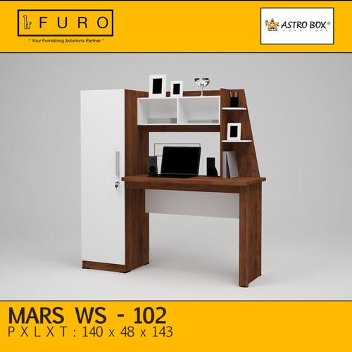 Foto Produk Meja Belajar ASTROBOX MARS WS | FURO - Cokelat Tua dari FURO | Furniture Online