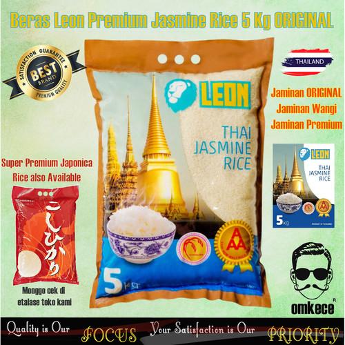 Foto Produk Beras Jasmine Rice Premium Super Leon Pulen dan Wangi ORI Thailand dari omkece.id