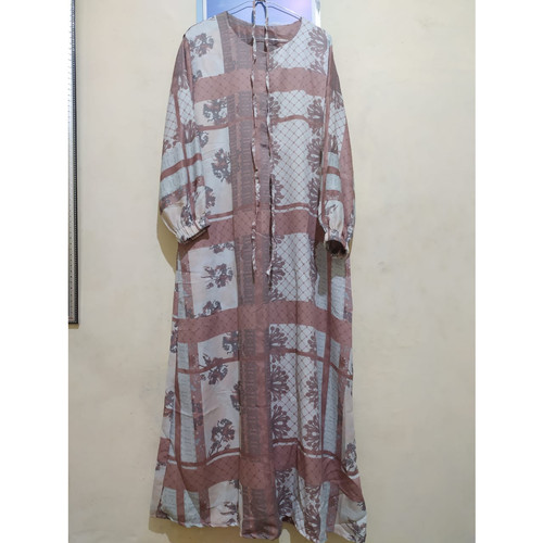 Foto Produk [REAL PICTURE] TANIA DRESS MAXMARA LUX TANAH ABANG PGMTA GROSIR - Pink dari FaVia Shop