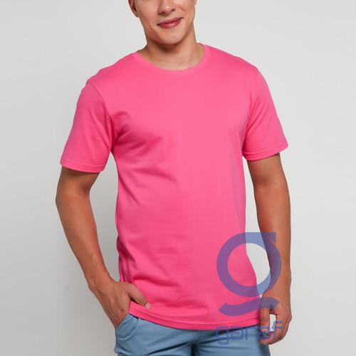 Foto Produk GARAF KAOS POLOS PRIA KATUN COMBAD 24S PREMIUM ONECK KAOS POLOS UNISEX - pink, L dari Garaf Official