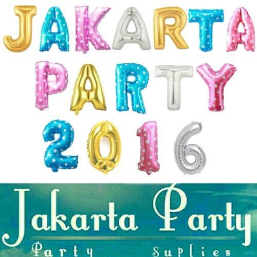 Foto Produk balon foil huruf angka - Biru dari Jakarta Party