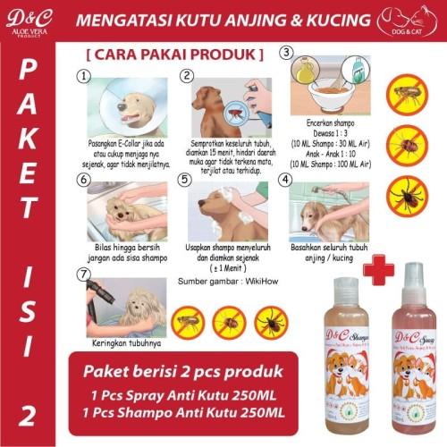 Foto Produk D&C [PAKET ISI 2] Spray Kutu Shampo Kutu Anjing Kucing Paket Isi 2 dari Produkkita