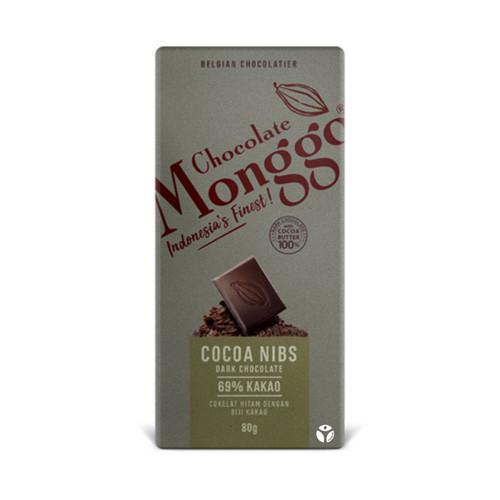 Foto Produk Monggo Chocolate - Dark 69% Cocoa Nibs Tablet 80gr dari Jagapati