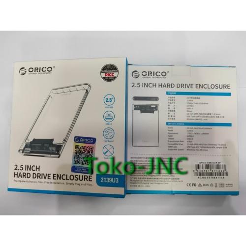 Foto Produk ORICO Transparan 2,5 inch SATA USB3.0 Enclosure Harddisk/SSD dari Toko-JnC