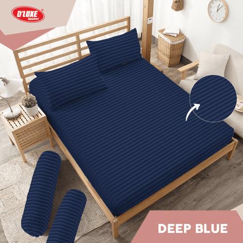 Foto Produk Sprei Embossed Deep Blue Kintakun D'luxe Microtex Biru T20 - 180 x 200 dari Kintakun Sprei Bedcover