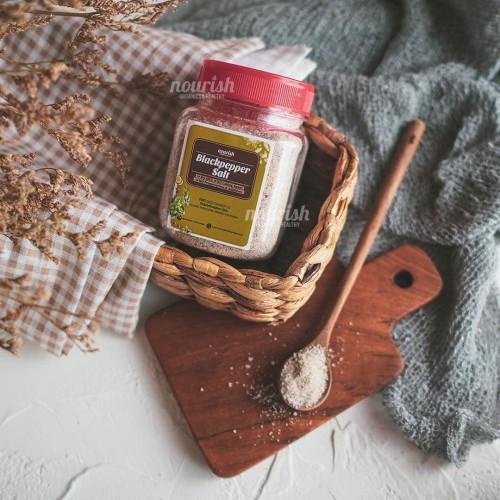 Foto Produk Black Pepper Sea Salt 200 gr dari Nourish Indonesia