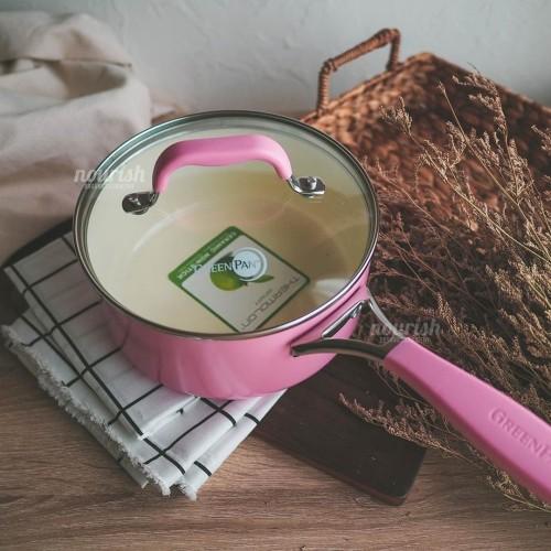 Foto Produk GreenPan York Pink Cream White Covered Saucepan 18 cm (satuan) dari Nourish Indonesia