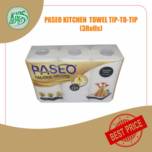 Foto Produk Tissue PASEO Kitchen Towel / Calorie Absorb 3in1 (1Pack ISI 3Rolls) dari KiosCepat