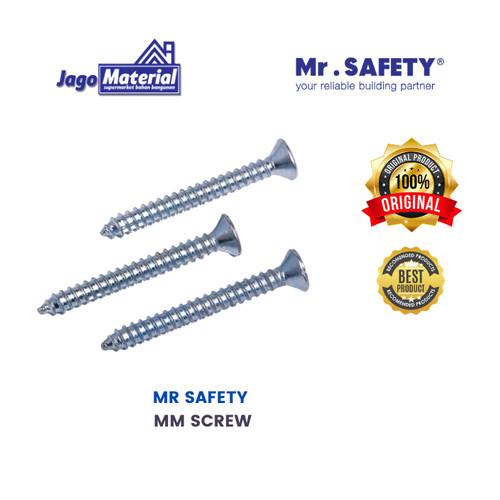 Foto Produk Sekrup datar dan Sekrup Kayu Mr Safety (MM Screw) - 6mm x 15.875mm dari Jagomaterial