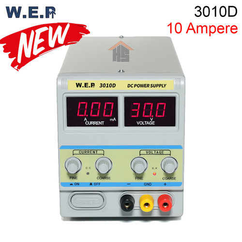 Foto Produk WEP 3010D DC STABILIZED POWER SUPPLY 10 Ampere 30Volt 300W AC 220V dari HOUSE SPAREPART