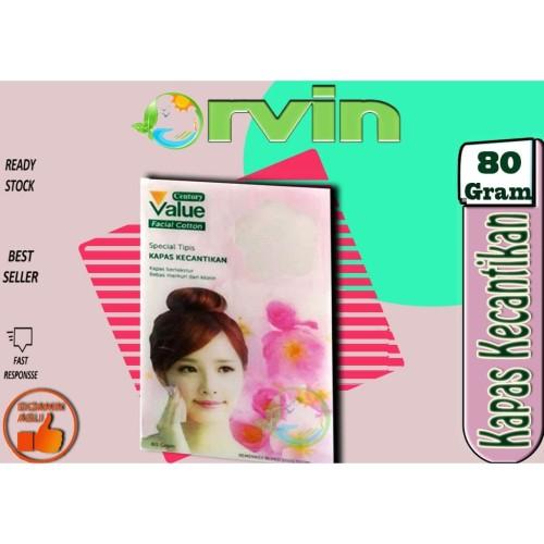 Foto Produk Value Plus Kapas Tipis 80 gr / Pembersih Wajah / Cleanser / Kosmetik dari Orvin Health & Beauty