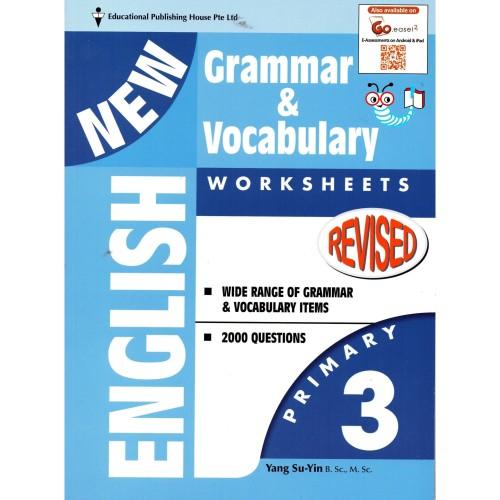 Foto Produk New English Grammar & Vocabulary Worksheets Primary 3 dari Little Bookworm