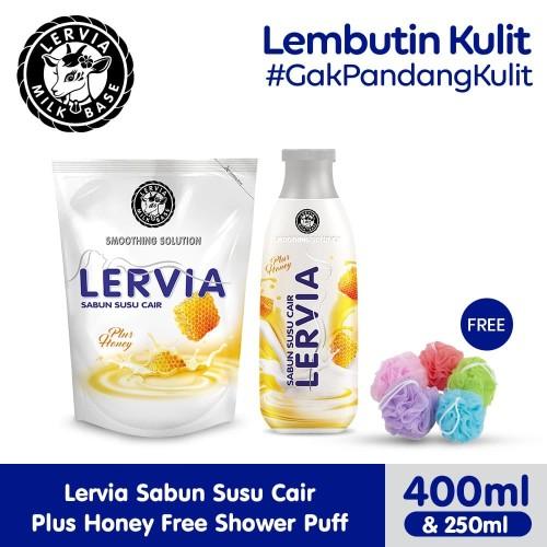 Foto Produk (Free Gift) LERVIA Sabun Susu Cair Plus Honey 250mL + 400mL dari Lervia Official Store