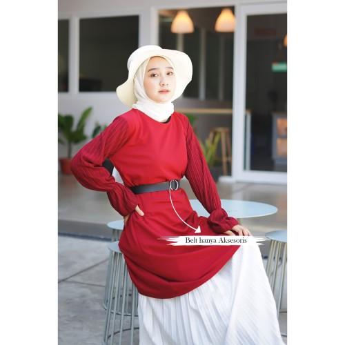 Foto Produk Yoenik Apparel Loreyn Dress Maroon. - M13092G R26S4 dari Yoenik Apparel