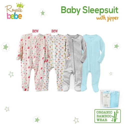 Foto Produk Royale Bebe - Baby Organic Bamboo Sleepsuit - CARS, 0-3m dari Chubby Baby Shop