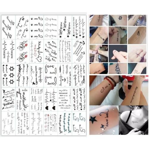 Foto Produk 30 Pcs Sticker Tatto Temporary - Tato Sementara - [TATO-02] dari Kendrick MY