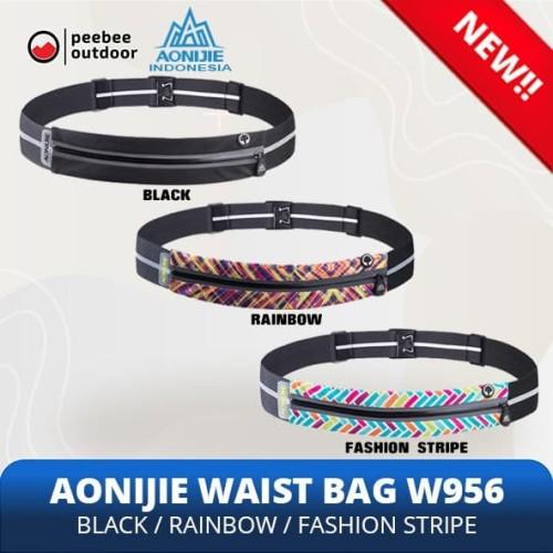 Foto Produk AONIJIE Waist Bag W956 Tas Pinggang lari sepeda gym ORIGINAL - Rainbow dari Peebee Store