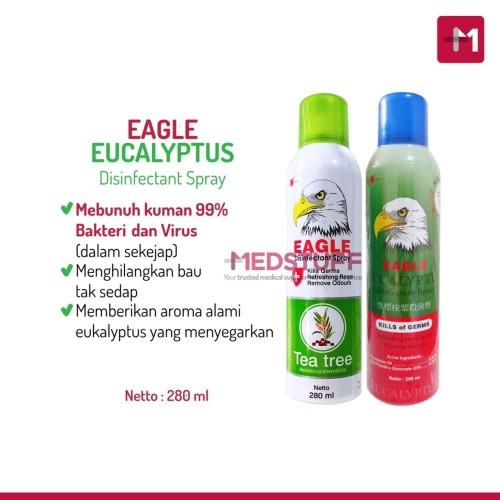Foto Produk Eagle Eucalyptus Disinfectant Spray Desinfektan Disinfektan 280ml - Original 280ml dari Medstuff