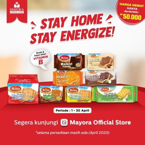 Foto Produk Paket Hemat #StayHome Roma Malkist dari Mayora Official Store