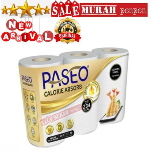 Foto Produk Tissue Minyak Paseo kitchen towel 3 roll 2 ply / Tissue dapur towel dari sale murah penpen