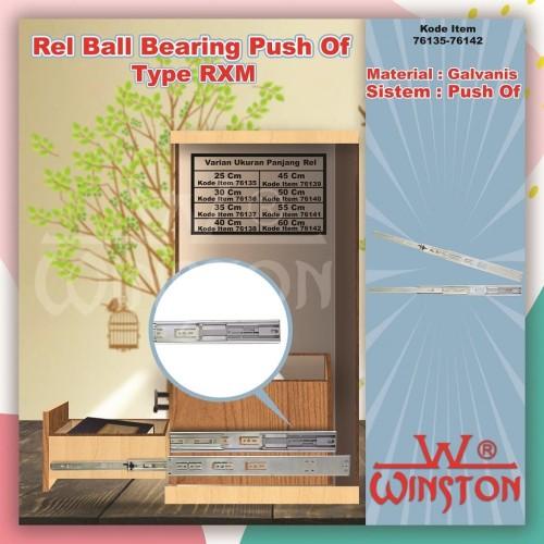Foto Produk REL LACI RXM PUSH OF WINSTON BALL BEARING DOUBLE EXTENSION 55 CM dari WINSTON SUKSES ABADI
