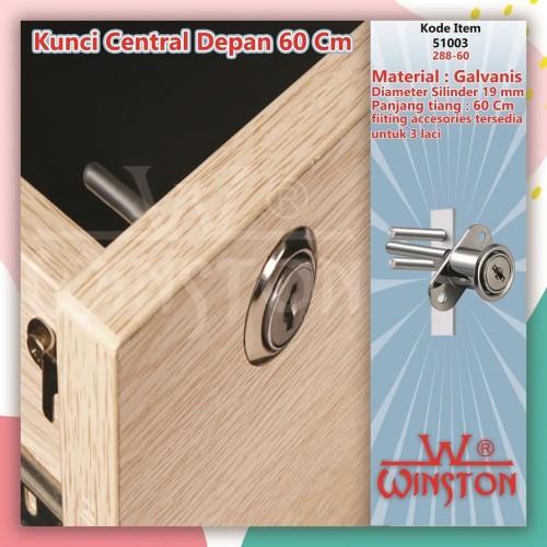 Foto Produk PROMO Kunci Laci Central WINSTON 288-60 cm Depan Meja Kantor Rumah dari WINSTON-OK OFFICIAL STORE