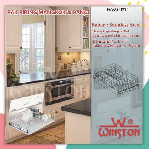 Foto Produk Rak Tarik Stainless Winston WW 007 T 90 cm for Kitchen Set Kabinet dari WINSTON SUKSES ABADI