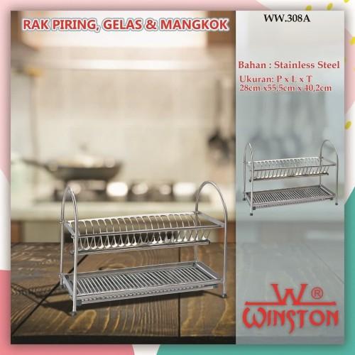 Foto Produk RAK PENGERING PIRING STAINLESS MERK WINSTON RAK PLATE & DISH 55.WW308A dari WINSTON-OK OFFICIAL STORE