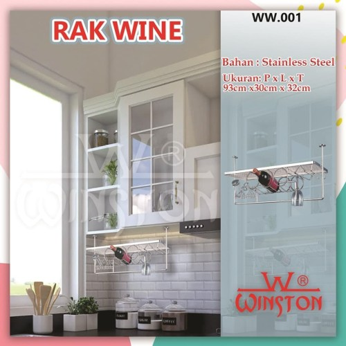 Foto Produk RAK WINE HOLDER STAINLESS STEEL WINSTON WW 001 dari WINSTON-OK OFFICIAL STORE