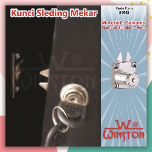 Foto Produk Kunci Mekar 106 Winston / Kunci Pintu Lemari Sliding/Sleding/Slide dari WINSTON SUKSES ABADI