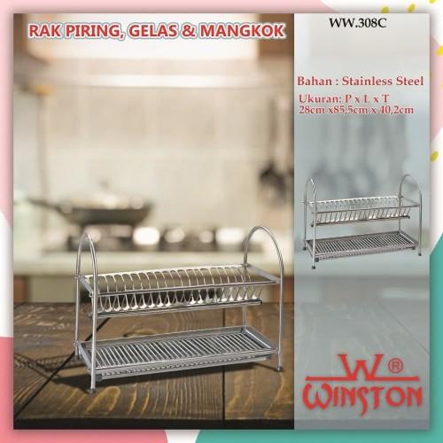 Foto Produk RAK PENGERING PIRING STAINLESS 90 WW 308 C SS WINSTON RAK PLATE DISH dari WINSTON SUKSES ABADI