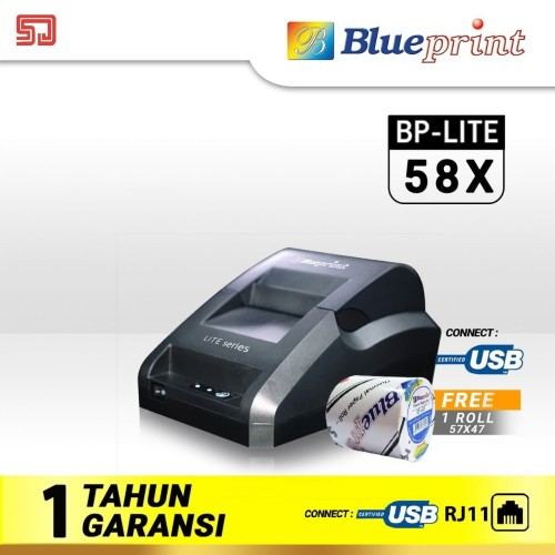 Foto Produk Printer Thermal Blueprint Lite 58X (USB+RJ11) Struk, Nota, Karcis dari Sadar Jaya Mandiri