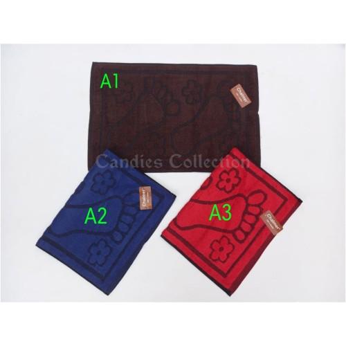Foto Produk Keset Handuk Chalmer 40 x 60 Motif Kaki - Merah dari sweethome collection