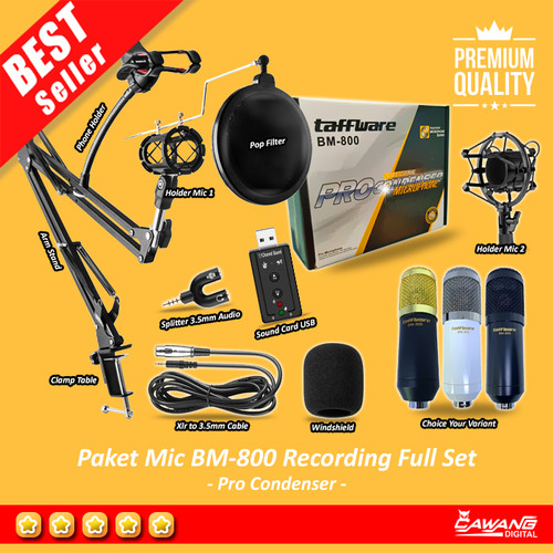 Foto Produk Paket Full Set BM-800 Ready Recording with Arm Stand Acc dari cawangdigital