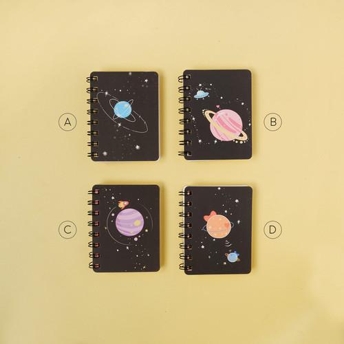 Foto Produk Planetary Romance Spiral Plain Notebook A7 / Buku Catatan A7 / Polos - Varian A dari Pinkabulous