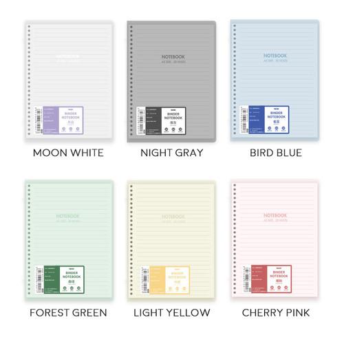 Foto Produk Colorful Dual Tie Slim File Binder Notebook B5 / Binder B5 / Binder - Light Yellow dari Pinkabulous