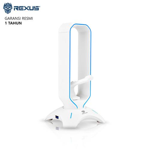 Foto Produk Headset Stand Rexus Bungee J3 RGB with USB HUB - Putih dari Ridista Official Store
