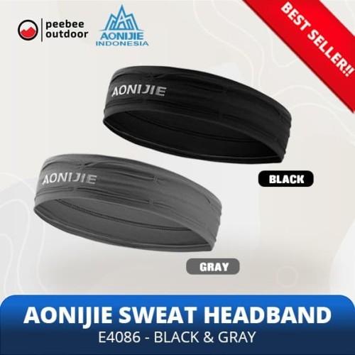 Foto Produk Jual AONIJIE Soft Headband Penahan keringat Wrist Band E4086 - BLACK - Abu-abu dari Peebee Store