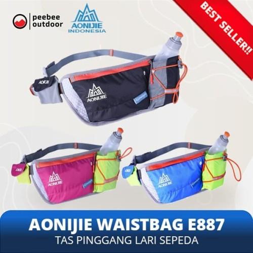 Foto Produk Aonijie E887 Waist Bag Tas Pinggang Lari Trail FREE Botol 250mL BLACK - Merah Muda dari Peebee Store