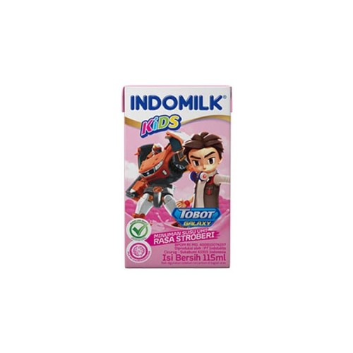 Foto Produk SUSU UHT INDOMILK KIDS STRAWBERRY 115 ML X Pcs dari Indomilk Official Store