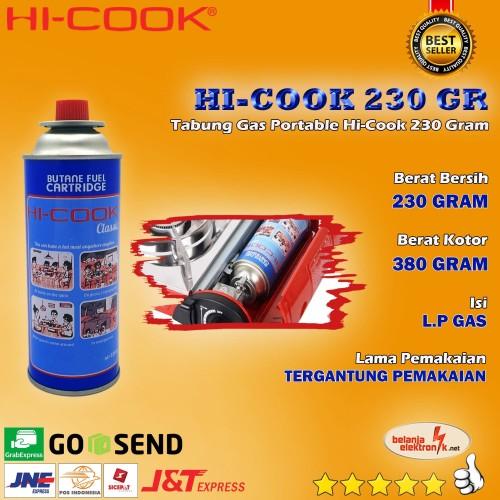 Foto Produk Tabung Gas Hi-Cook Portable 230 gram dari Belanja Elektronik