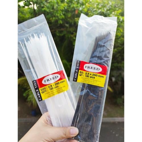 Foto Produk Kabel ties Cable ties Kabel tis Tie panjang Klip 2.8x250mm isi 100Pcs dari lbagstore