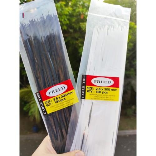 Foto Produk Kabel ties Cable ties Kabel tis Tie Besar Klip 2.8x300mm isi 100Pcs dari lbagstore