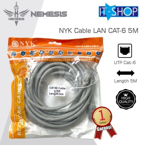 Foto Produk NYK Cable LAN CAT-6 5M dari IT-SHOP-ONLINE